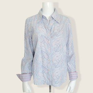 Tommy Hilfiger Paisley Button Down Top Women's 14